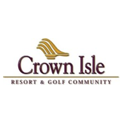 Logo of Crowne Isle Resort & golf community