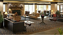 Delta Lodge at Kananaskis - accommodations in canadian rockies spacious lobby