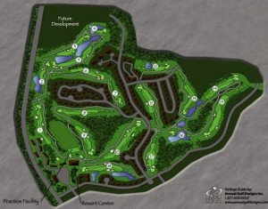 Crown Isle Resort Golf community Course Layout