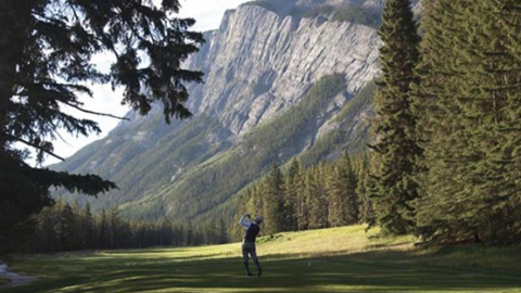 Enjoying The Fairmont Banff Springs Golf Course In The Canadian Rockies