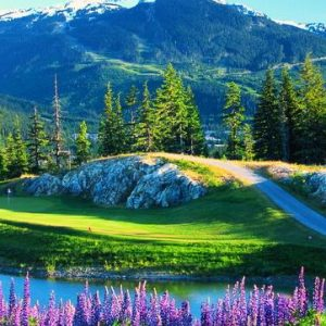 Beautiful, Scenic Holes Near Whistler, BC