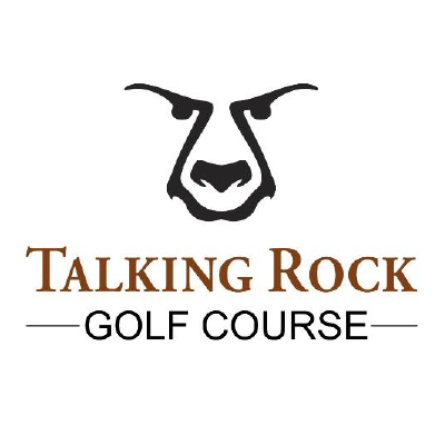 Logo of talking rock golf course in shuswap bc