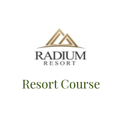 Logo for the Radium Resort Resort Golf Course